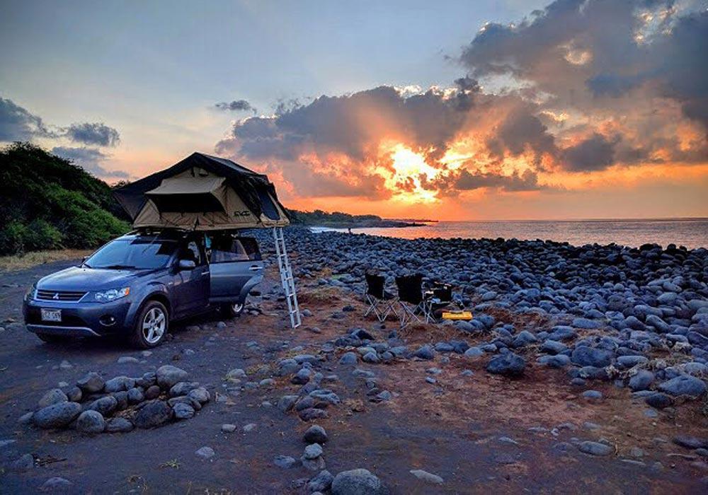 Camping View in Maui HI