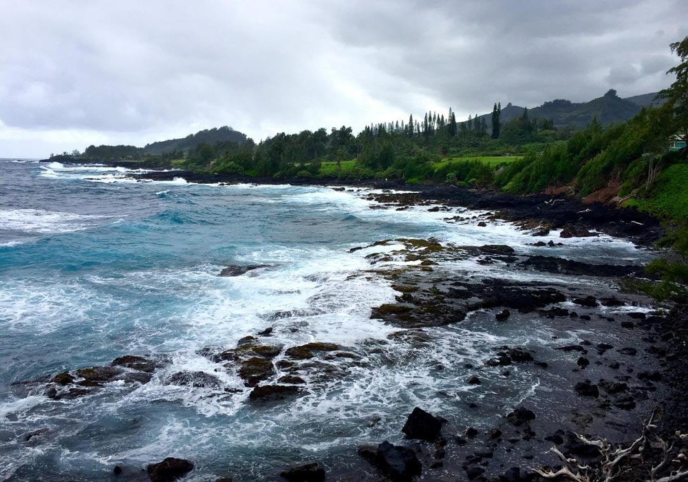 Camping By Beach in Maui HI