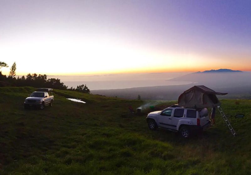 Rooftop Camping in Maui HI